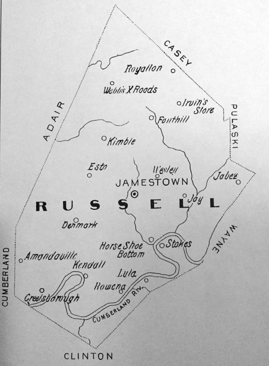 1900 printed map